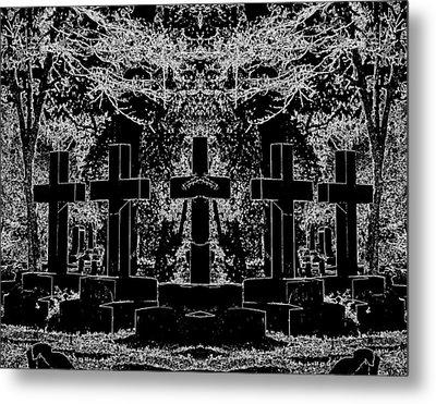 Phantom Of The Cemetery Metal Print
