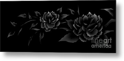 Phantom Peonies Metal Print