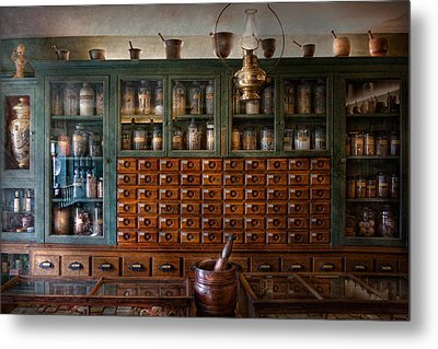 Pharmacy - Right Behind The Counter Metal Print by Mike Savad