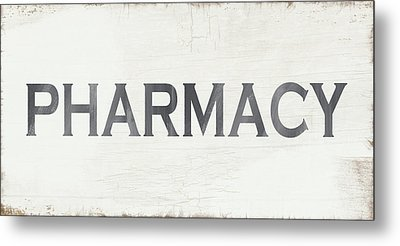Pharmacy Sign- Art By Linda Woods Metal Print