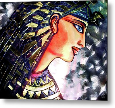Pharoah Of Egypt Metal Print by Pennie  McCracken