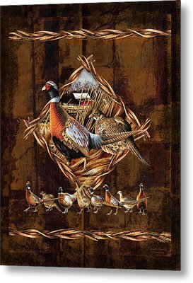 Pheasant Lodge Metal Print by JQ Licensing