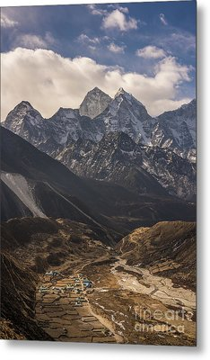 Metal Print featuring the photograph Pheriche In The Valley by Mike Reid