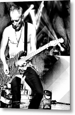 Phil Collen Of Def Leppard 4 Metal Print by David Patterson
