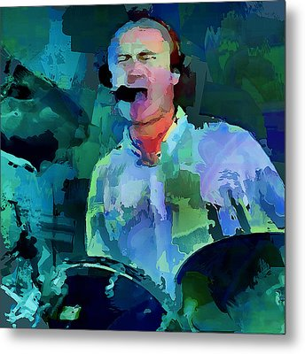 Phil Collins Drums Metal Print