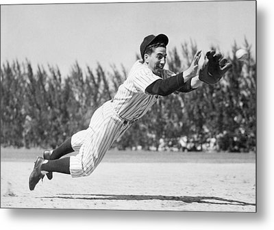 Phil Rizzuto, As A Rookie Infielder Metal Print