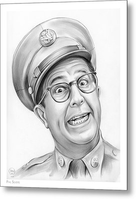 Phil Silvers Metal Print by Greg Joens