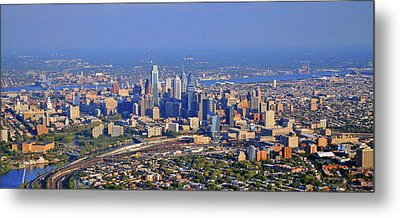 Metal Print featuring the photograph Philadelphia Aerial  by Duncan Pearson