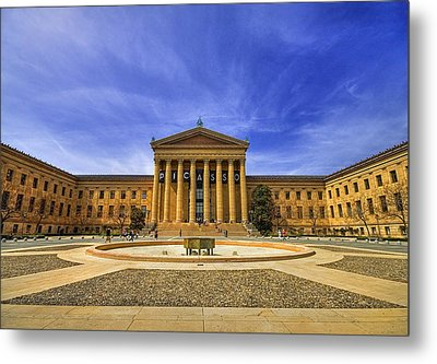 Philadelphia Art Museum Metal Print by Evelina Kremsdorf