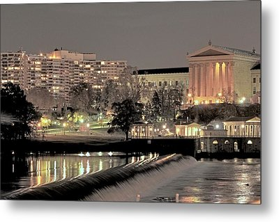 Philadelphia Art Museum In Pastel Metal Print by Deborah  Crew-Johnson
