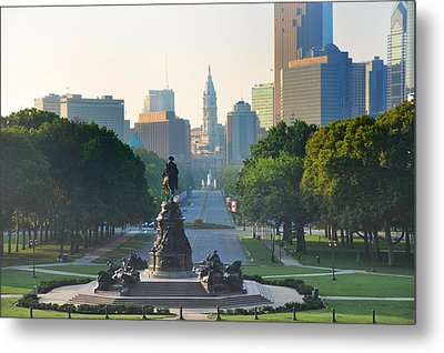 Philadelphia Benjamin Franklin Parkway Metal Print by Bill Cannon