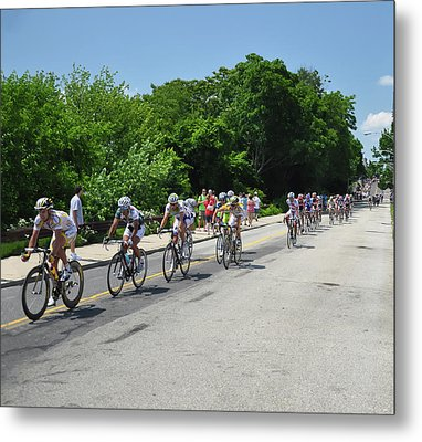 Philadelphia Bike Race - Manayunk Avenue Metal Print