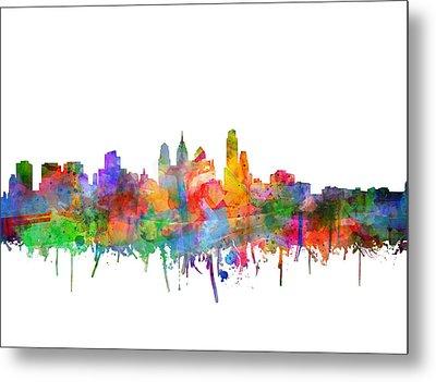 Philadelphia City Skyline Watercolor 3 Metal Print