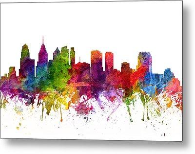 Philadelphia Cityscape 06 Metal Print by Aged Pixel