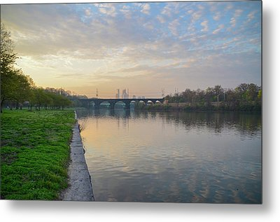 Metal Print featuring the photograph Philadelphia Cityscape From The Schuylkill In The Morning by Bill Cannon