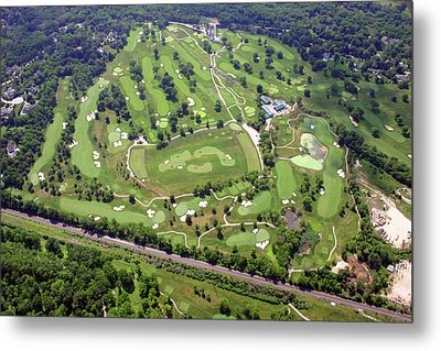Philadelphia Cricket Club Militia Hill Golf Course Holes 3 4 5 6 7 8 And 9 Metal Print by Duncan Pearson