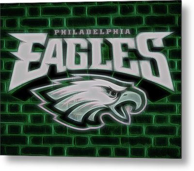 Philadelphia Eagles Electric Sign Metal Print by Dan Sproul