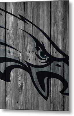 Philadelphia Eagles Wood Fence Metal Print by Joe Hamilton