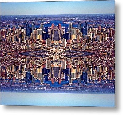Philadelphia Geometric Collage Metal Print by Duncan Pearson