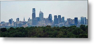 Philadelphia Green Skyline Metal Print