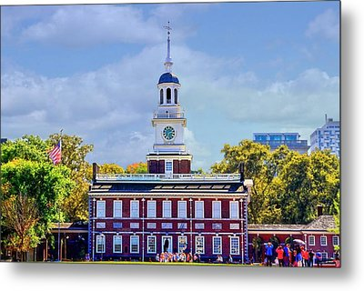 Philadelphia Landmark Metal Print by DJ Florek