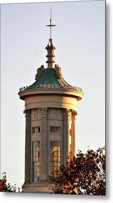 Philadelphia Merchant's Exchange Tower Metal Print by Christopher Woods