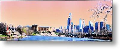 Philadelphia Panoramic Metal Print by Bill Cannon