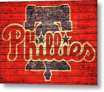 Philadelphia Phillies Barn Door Metal Print