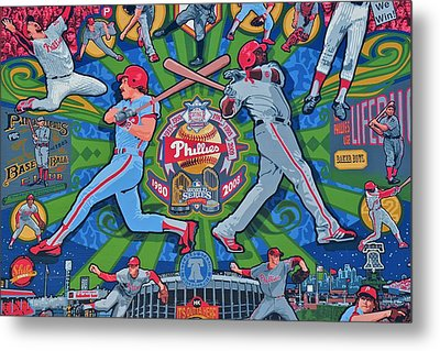 Philadelphia Phillies Metal Print by Frozen in Time Fine Art Photography