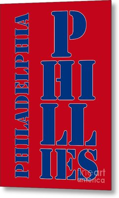 Philadelphia Phillies Typography Metal Print by Pablo Franchi