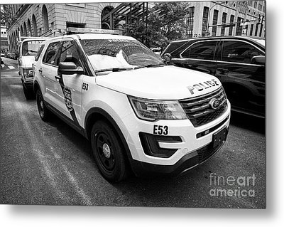 Philadelphia Police Ford Interceptor Utility Patrol Car Vehicle Usa Metal Print