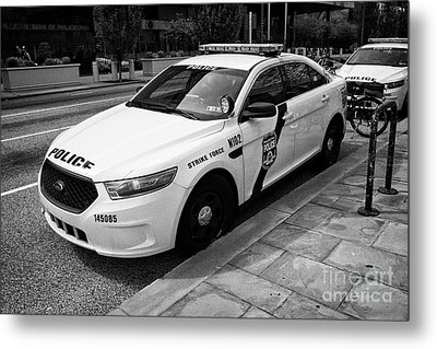 Philadelphia Police Narcotics Strike Force Police Cruiser Vehicle Usa Metal Print