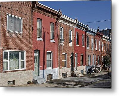 Philadelphia Row Houses Metal Print by Brendan Reals