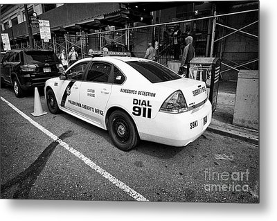 Philadelphia Sheriffs Office Chevy Impala Police Cruiser K-9 Unit Explosives Detection Vehicle Usa Metal Print