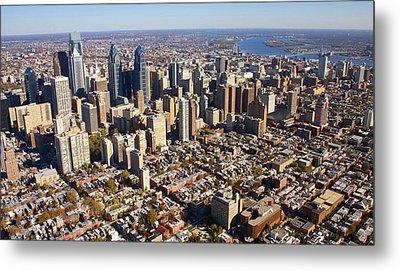Philadelphia Skyline Aerial Graduate Hospital Rittenhouse Square Cityscape Metal Print by Duncan Pearson