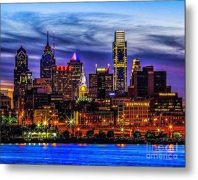 Metal Print featuring the photograph Philadelphia Skyline by Nick Zelinsky