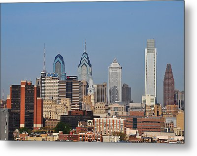 Philadelphia Standing Tall Metal Print by Bill Cannon