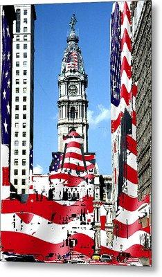 Philadelphia Stars And Stripes Collage Metal Print