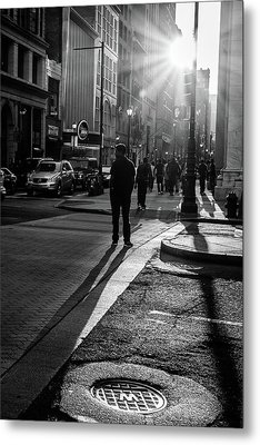Metal Print featuring the photograph Philadelphia Street Photography - 0943 by David Sutton