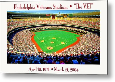 Philadelphia Veterans Stadium The Vet Metal Print by A Gurmankin