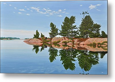 Metal Print featuring the painting Philip Edward Island by Kenneth M Kirsch