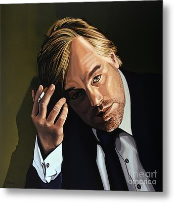 Philip Seymour Hoffman Metal Print by Paul Meijering
