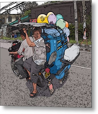 Philippines 2762 Party Supplies Metal Print by Rolf Bertram
