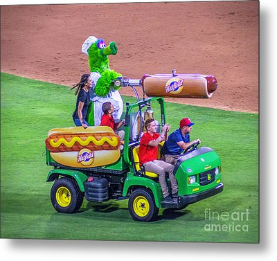 Phillie Phanatic Hot Dog Shooter Metal Print