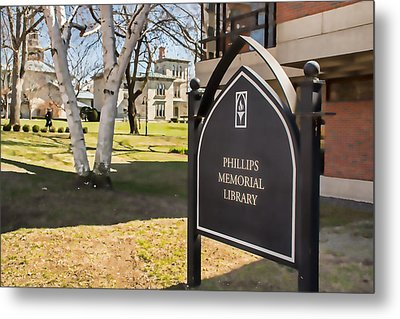 Phillips Memorial Library Providence College, Artistic Metal Print by Nancy De Flon