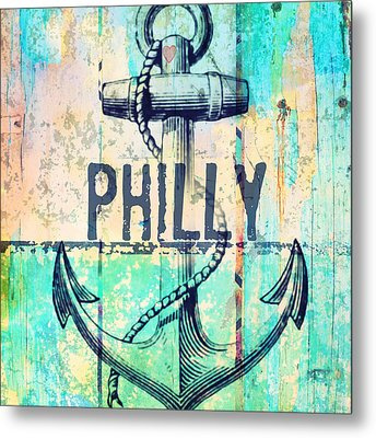 Philly Anchor 2 Metal Print