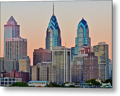 Philly At Sunset Metal Print by Frozen in Time Fine Art Photography