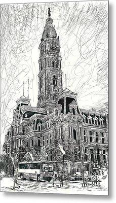 Philly City Hall Metal Print