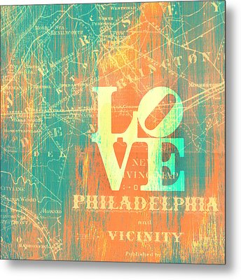 Philly Love V10 Metal Print