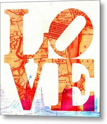Philly Love V4 Metal Print by Brandi Fitzgerald